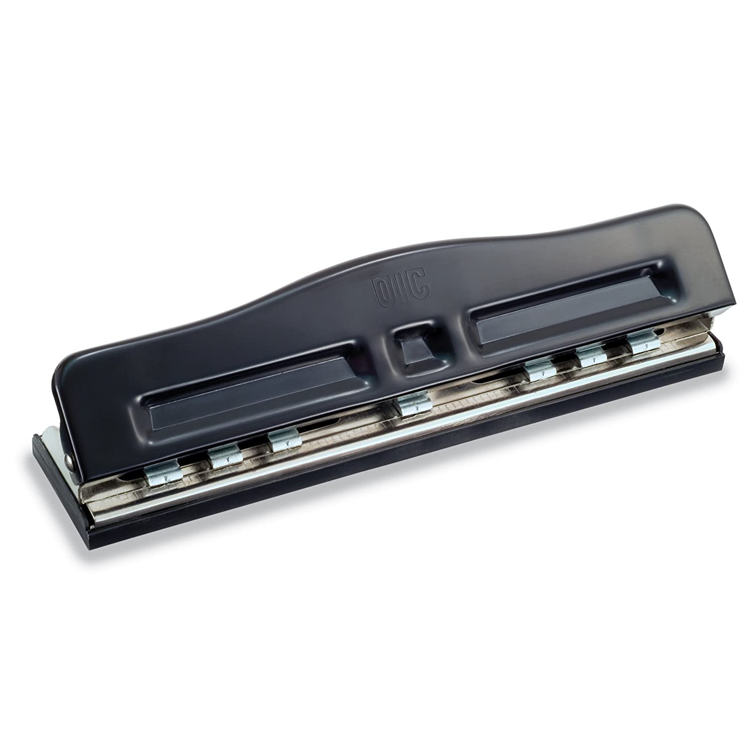 Officemate Adjustable 2-7 Hole Punch, 5-11 Sheet Capacity, Black with Chrome Trim (90070) Officemate OIC