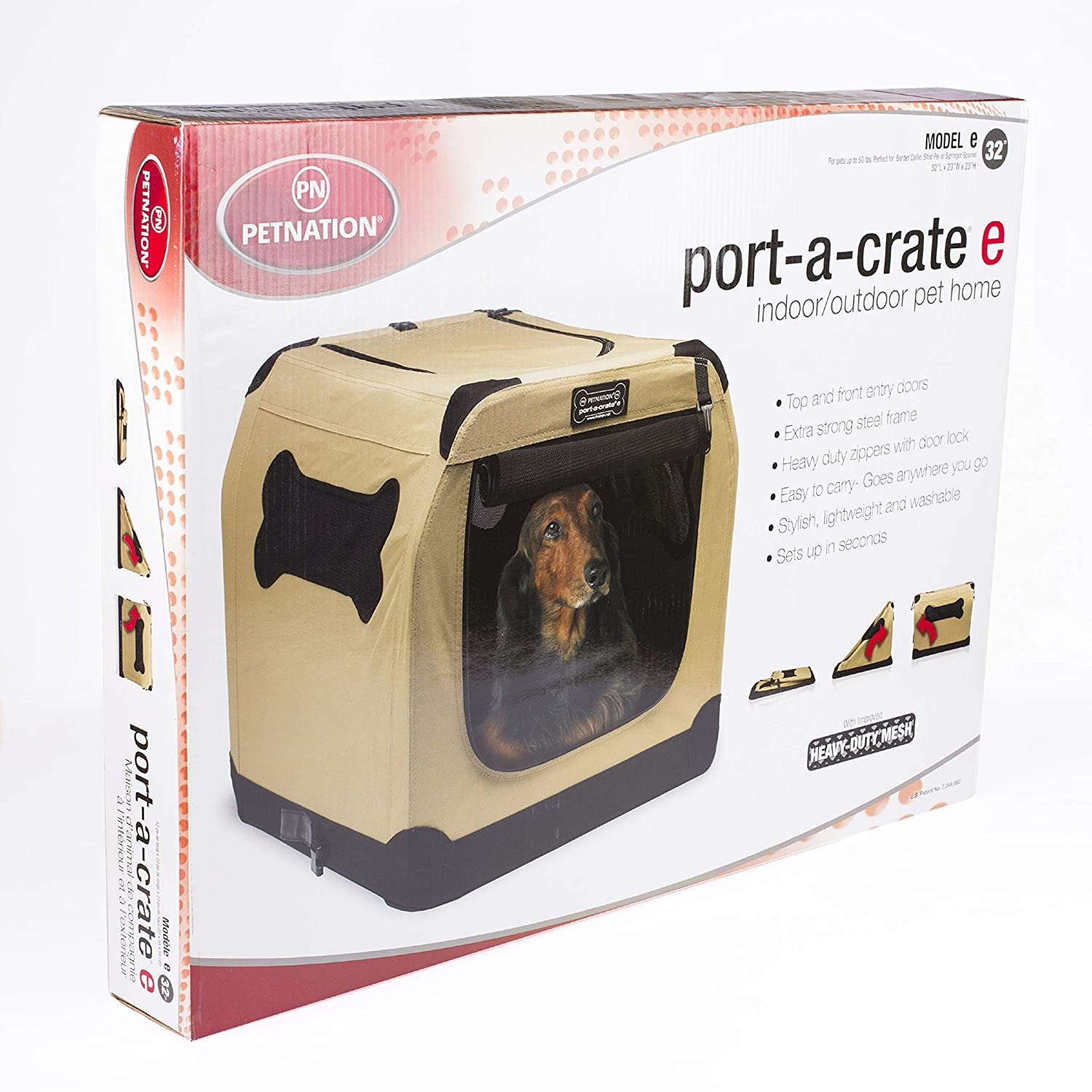 32-Inch Petnation Port-A-Crate Indoor and Outdoor Home for Pets 612