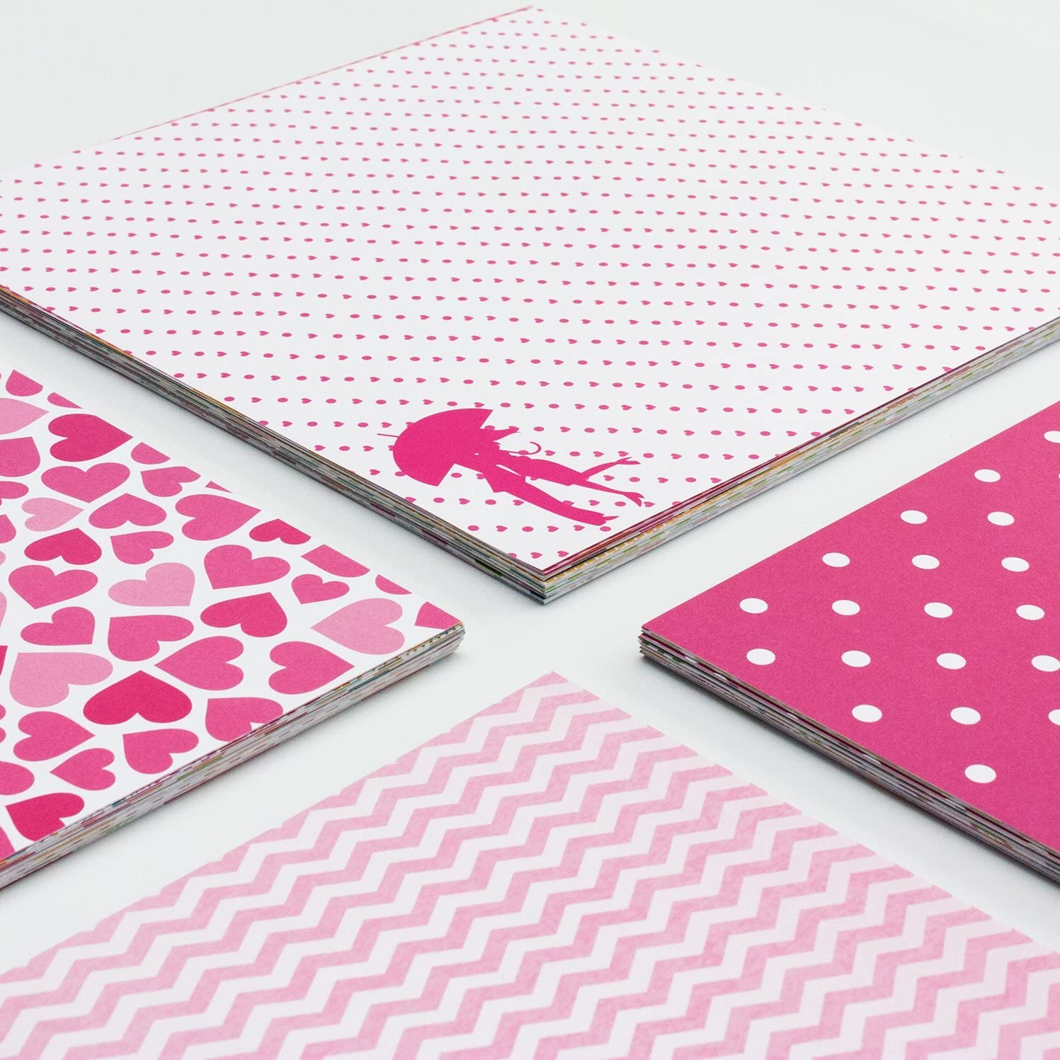 Scrapbook Album 10x10 with 40 Sheet Love Themed Scrapbook Paper Love Words