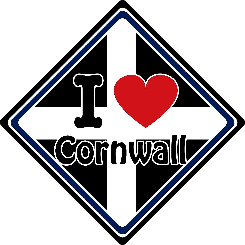 I Love Cornwall Car Sign