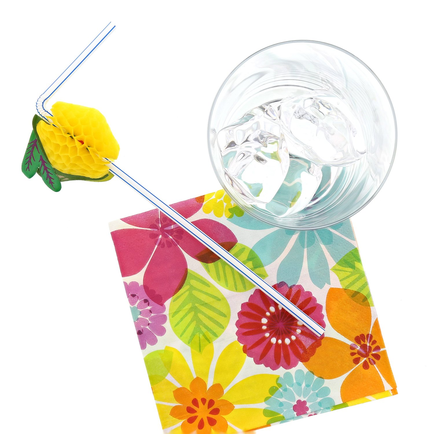 Royal Assorted Paper Fruit Straw, Case of 3456