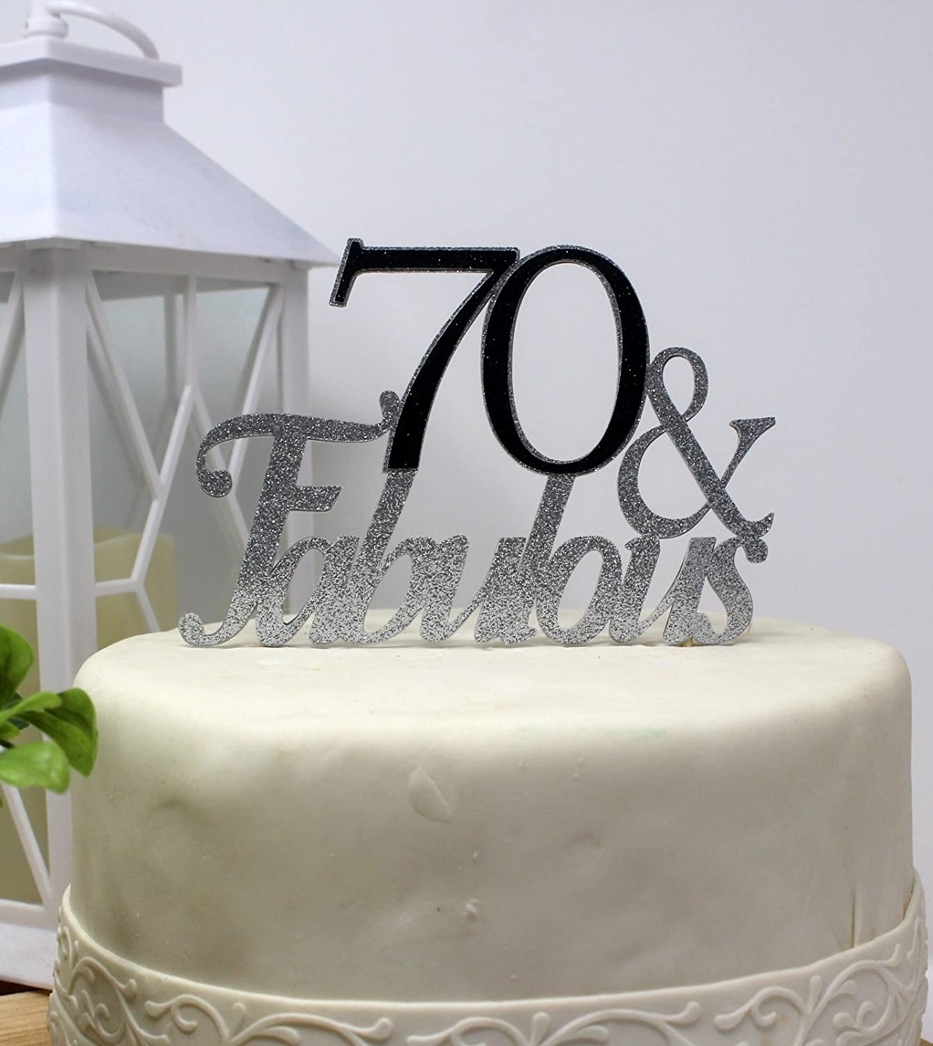 All About Details Pink 70-/&-fabulous Cake Topper