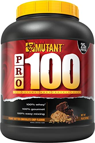 Mutant Pro a 100 Whey Protein Shake with No Hidden Ingredients, Comes in Delicious Gourmet Flavors, 4 lb – Peanut Butter Chocolate Chip