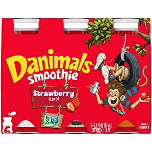 Danimals Smoothies, Strawberry Explosion, Gluten-Free, Non-GMO Project Verified, 3.1 oz., 6 Pack