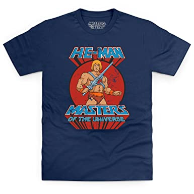 Official Masters of The Universe - He-Man T-Shirt, Herren, Dunkelblau