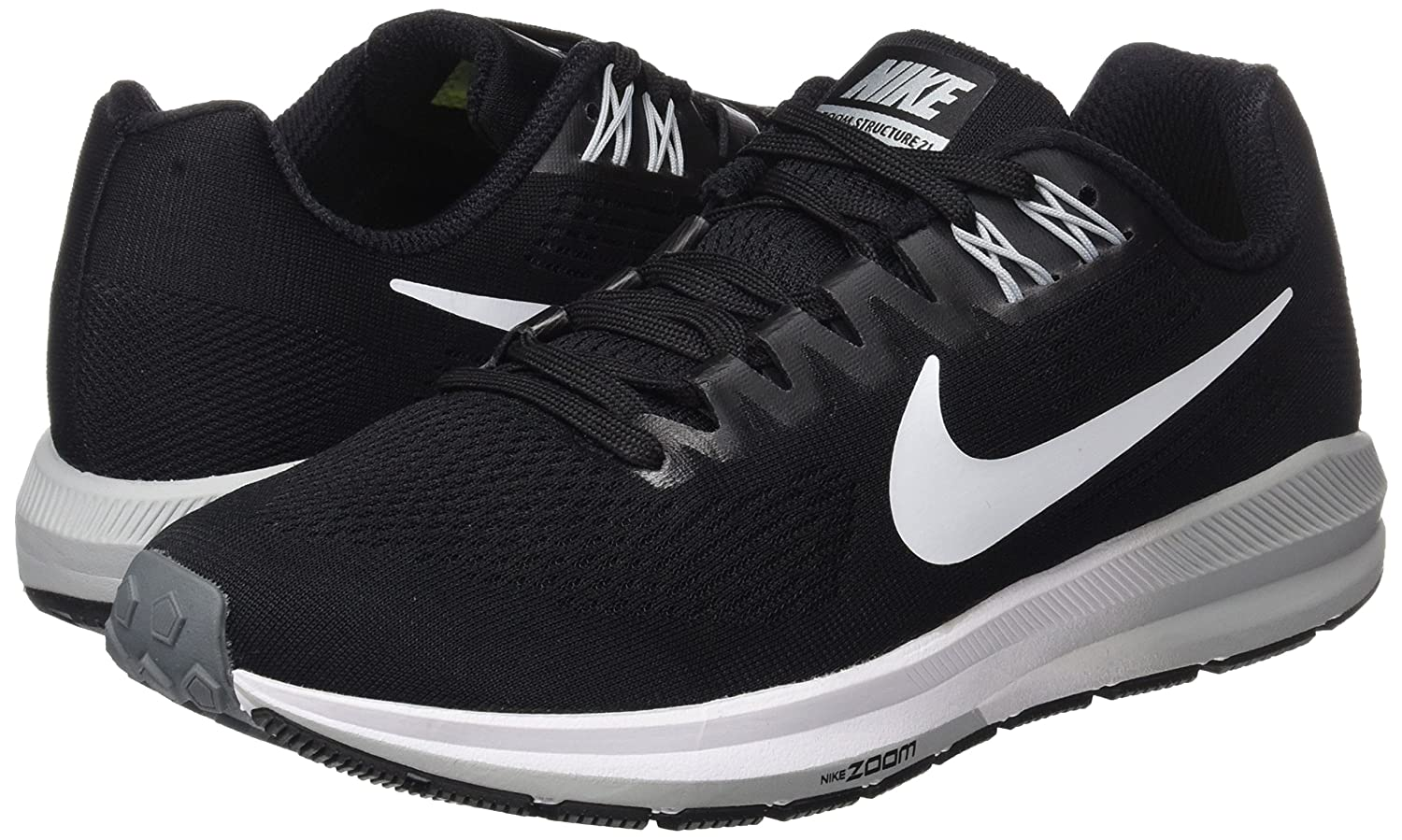 NIKE Women's Air Zoom Structure 21 Running Shoe B075N45LG5 9.5 M US|Black/White/Wolf/Grey