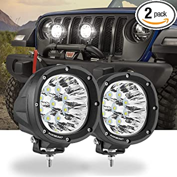 2Pcs 40W LED Fog Driving work Lights Auxiliary Lights Yellow White Dual Colors High Power For Wrangler Offroad 4X4 Auto Car Jeep Truck ATV UTV Boat Motorcycle