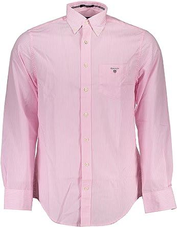 Gant - Camisa casual - Rayas - para hombre rosa Rouge Pink ...