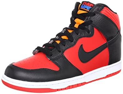 new product ab832 bf786 NIKE Dunk High Red Black WBF BAR Barcelona Mens Casual Shoes 317982-608