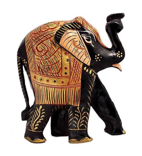 Amazon.com: Mano craftqaed elefante indio Royal verde ...