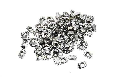 100 piezas M5 T tuerca CNC 2020 marco aluminio impresora 3D plata ...