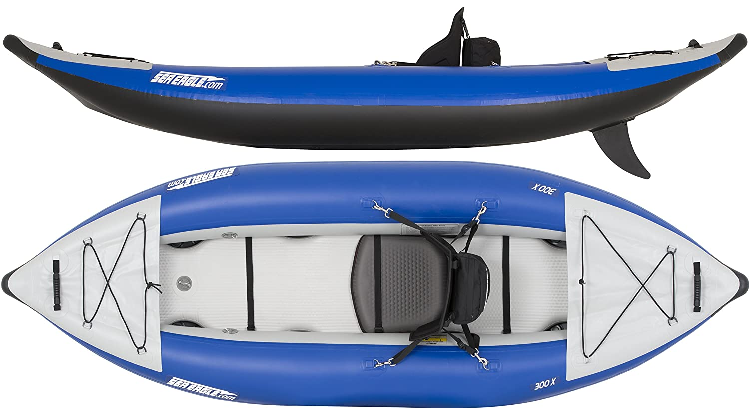 Sea Eagle 300x Inflatable Explorer Kayak Pro Carbon Package