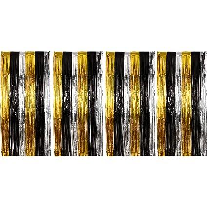 Amazon.com: Sumind - Juego de 4 cortinas metálicas con ...