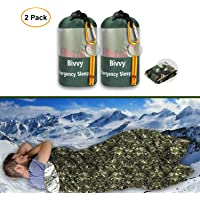 JYSW Emergency Bivy Sack, Survival Sleeping Bag Emergency Blanket Lightweight and Compact Survival Gear for Outdoor…