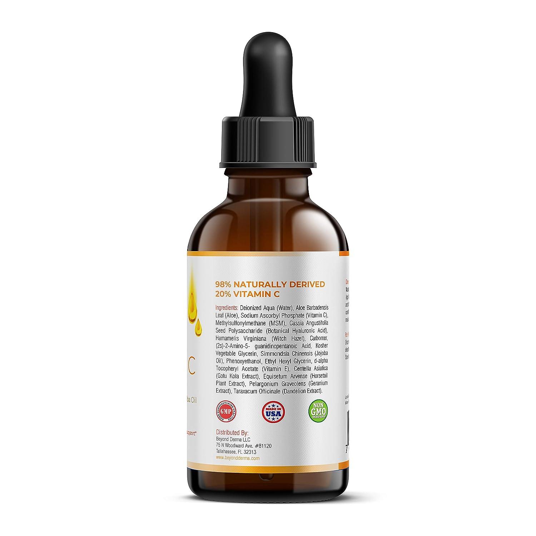 Derma Roller Facial Serum Kit – 0 25mm 540 Titanium Microneedles + Vitamin  C Serum with