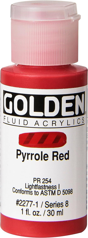 Acrilico Fluido Golden,30ml, Rojo