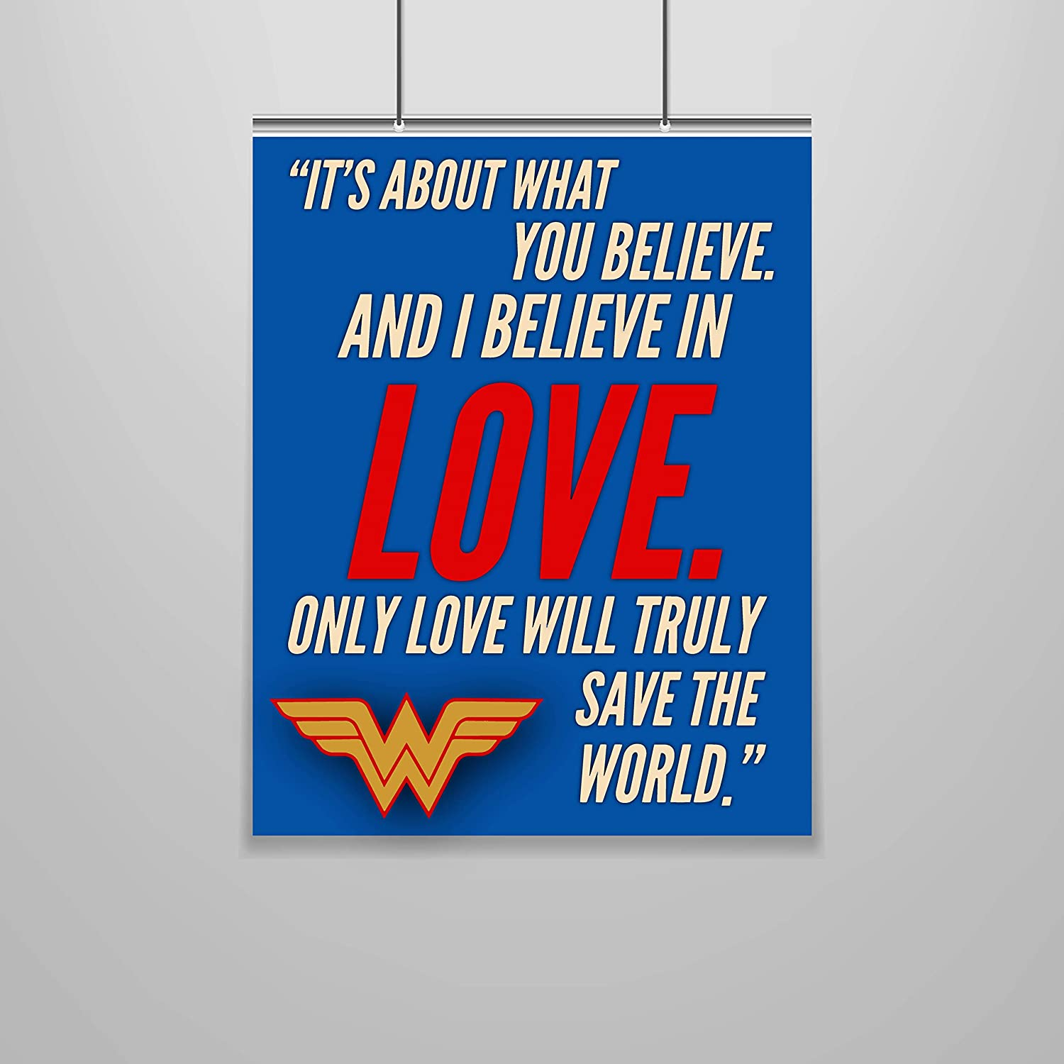 Wonder Woman Quote Poster – 16 x 20 – Motivational – Inspirational – Growth Mindset – Classroom Decor – DC School – Kid's Room – Teen Room – Nursery Wall Art