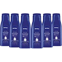 NIVEA Essentially Enriched Body Lotion for Dry Skin - Pack of 6, 2.5 fl. oz. Travel Size Toiletries