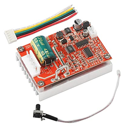 DROK DC 6-50V Three-phrase Brushless Sensorless Motor Control Board BLDC  Motor Driver Regulator Monitor 380W High Power Motor PWM Duty Cycle Speed
