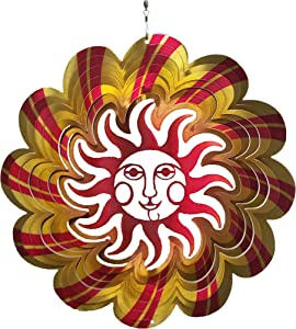 Brands Wind Spinner 12 Inch 360 Degree Hanging Stainless Steel Sun Indoor Outdoor Garden Decoration
