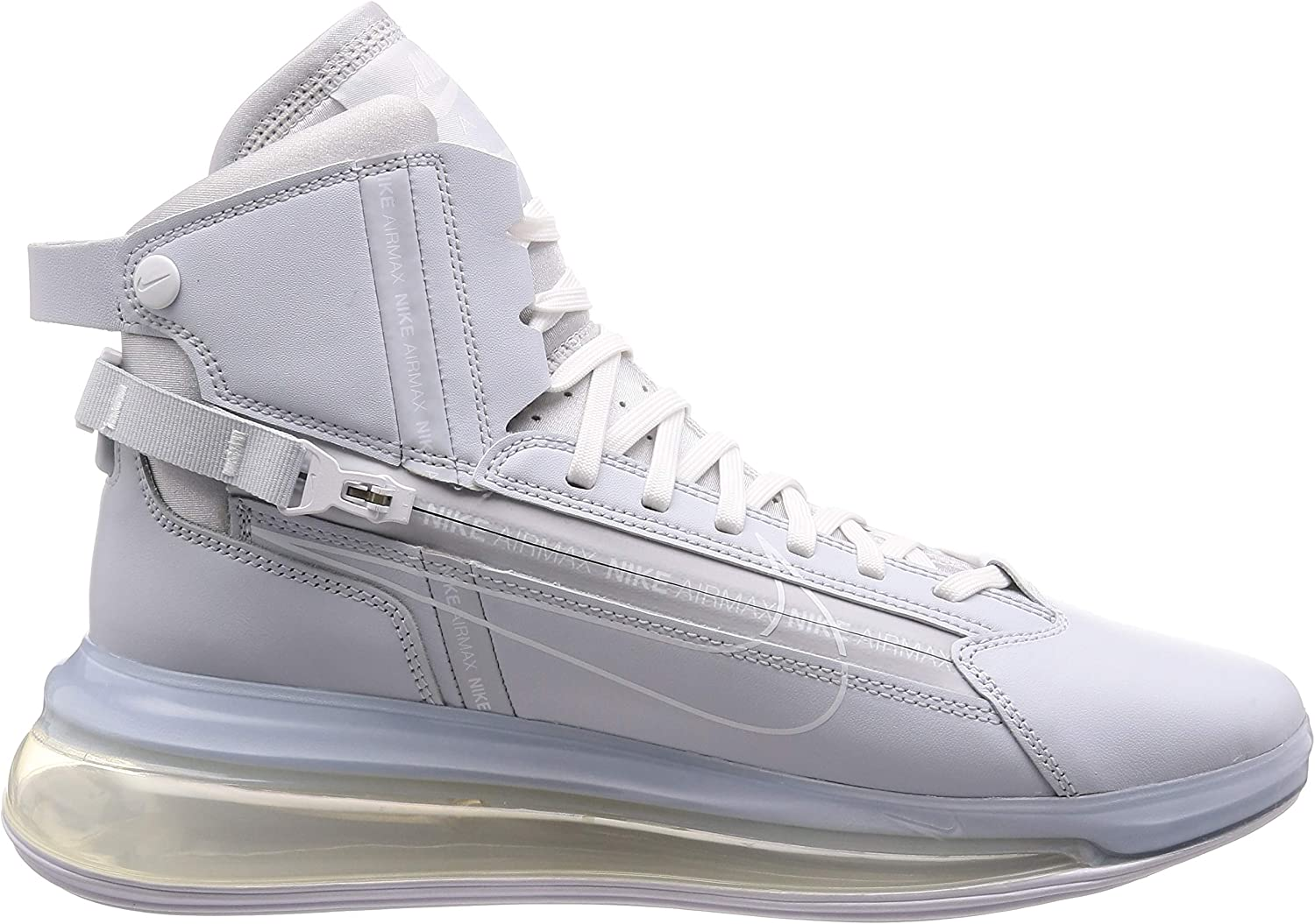 Nike Air Max 720 Satrn, Chaussures de Basketball Homme Gris Pure Platinum White 000