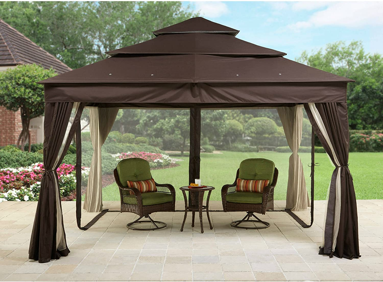 Better Homes & Gardens Metal Gazebo con Marcos de Acero de Malla ...