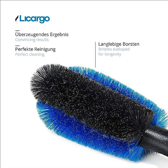 Licargo Premium Felgenbürste Für Eine Effektive Reinigung Bis Tief Ins Felgenbett Felgen Bürste Zur Schonenden Pflege Von Stahl Und Alufelgen Felgenbürste Alufelgen Felgenbürste Lang Auto