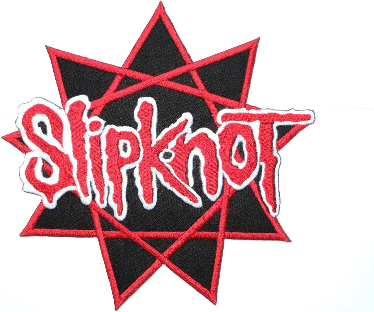 """SLIPKNOT Pentagram Heavy Metal Embroidered Iron On  Patch 3/"""""""