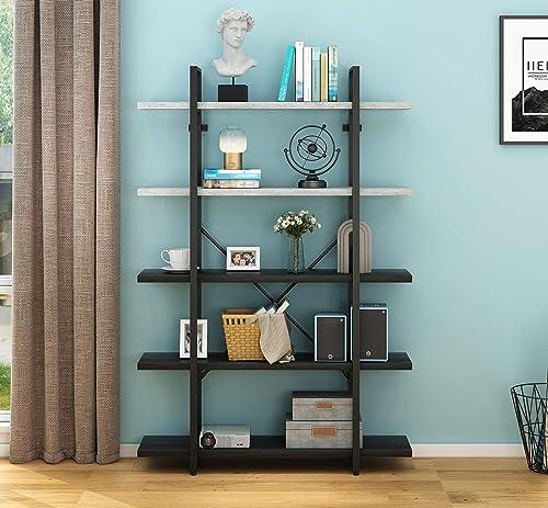 O K Furniture 5-Tier Bookcase