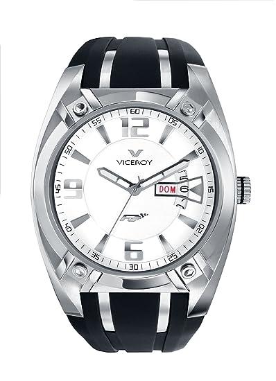 Viceroy 47563-05 - Reloj de Caballero de Cuarzo, Correa de Goma Color Negro: Amazon.es: Relojes