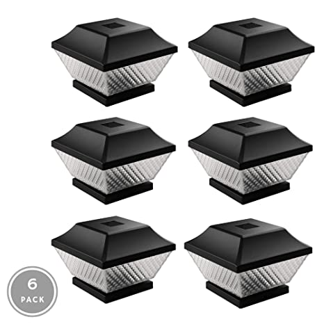 Noma Solar Post Lights Waterproof Outdoor Cap Lights For 4 X 4 Wooden Posts Deck Patio Garden Décor Or Fence Warm White Led Lights 6 Pack