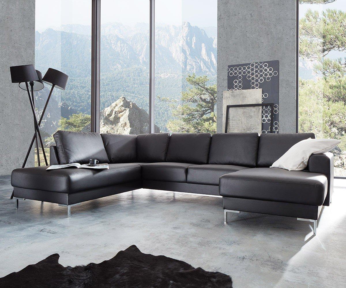 Couch Silas Schwarz 300x200 Cm Ottomane Links Designer