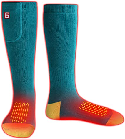 Great for Skiing Hiking Motorcycling Warm Winter Socks IFWATER Heated Socks for Women Men Rechargeable Electric Socks Battery Heated Socks Foot Warmer for Chronically Cold Foot Pink, M