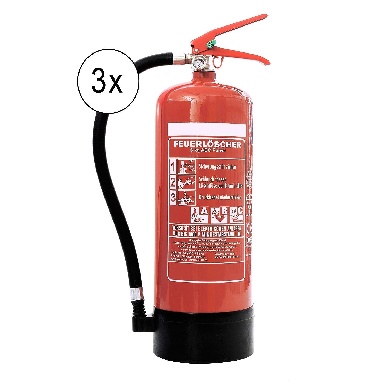 3 STÜ CK 6 kg Pulver-Feuerlö scher der Profi mit 10 Lö scheinheiten fü r Handwerk-Gewerbe und Industrie direkt ab Werk Andris