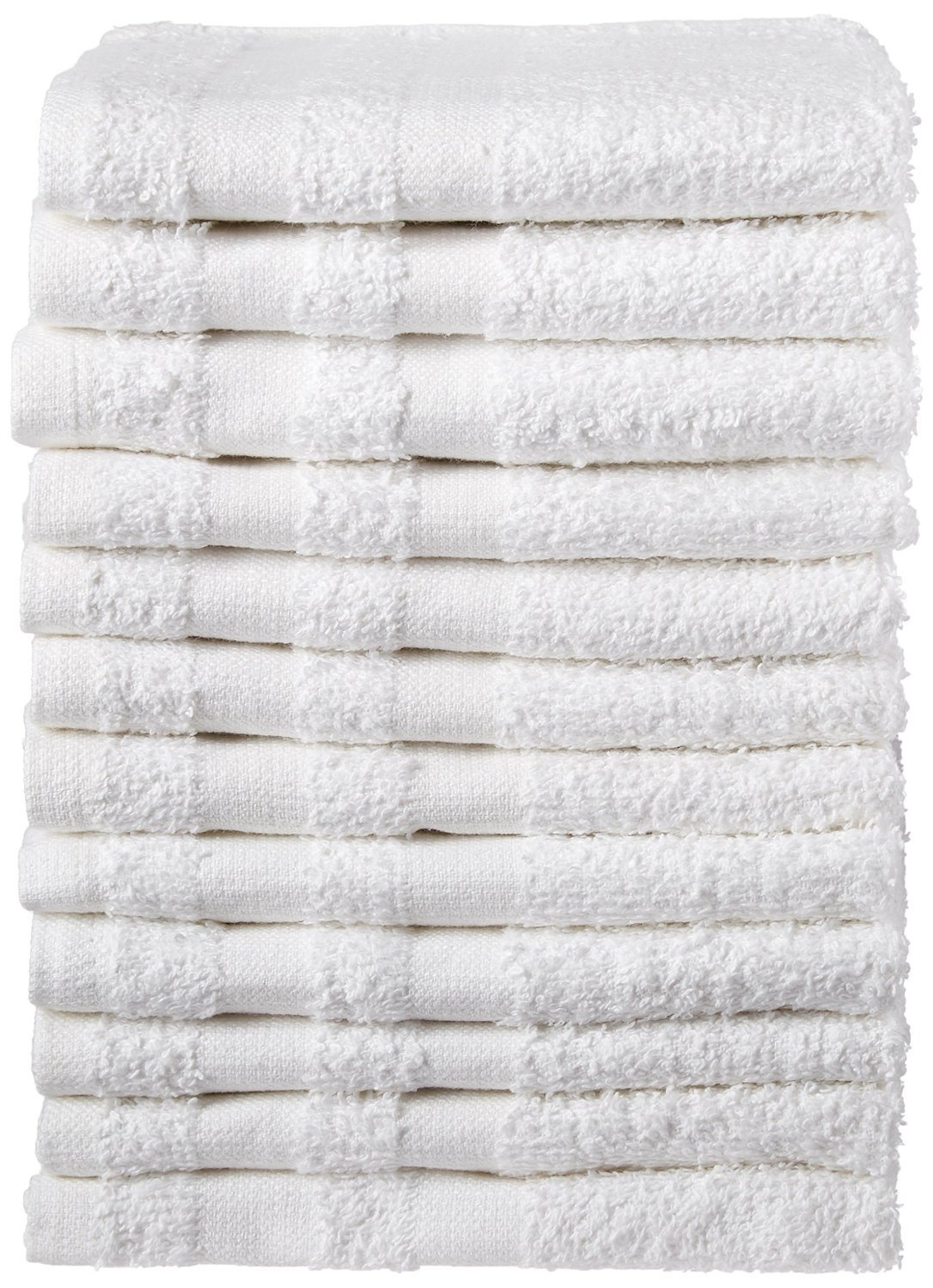 Weaved Collection White Hand Towels, Basic Cotton 100% Cotton 12 Pack,15''x 25'' by WC Weaved Collection (Image #1)