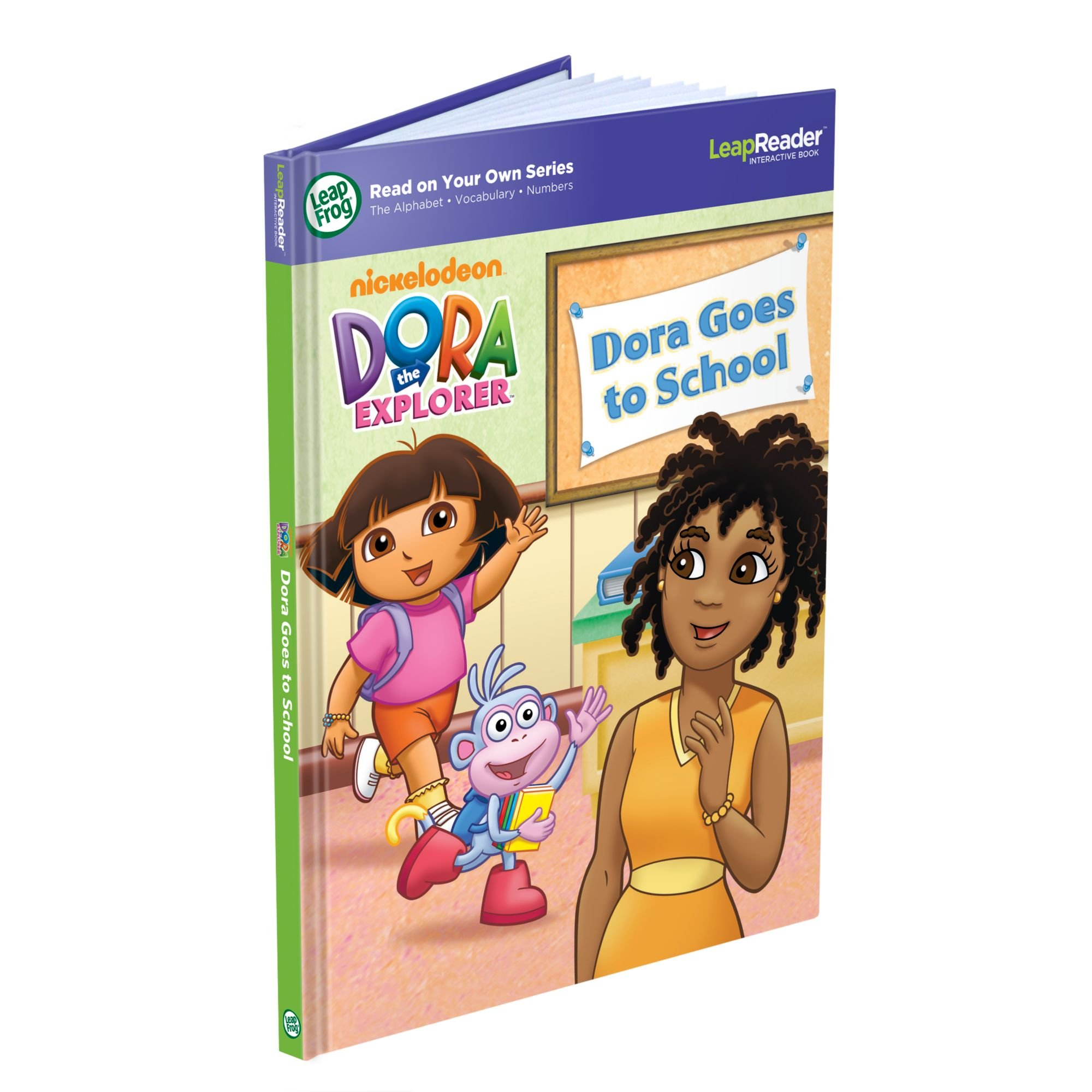 LeapFrog LeapReader Book: Dora Goes to School (works with Tag)