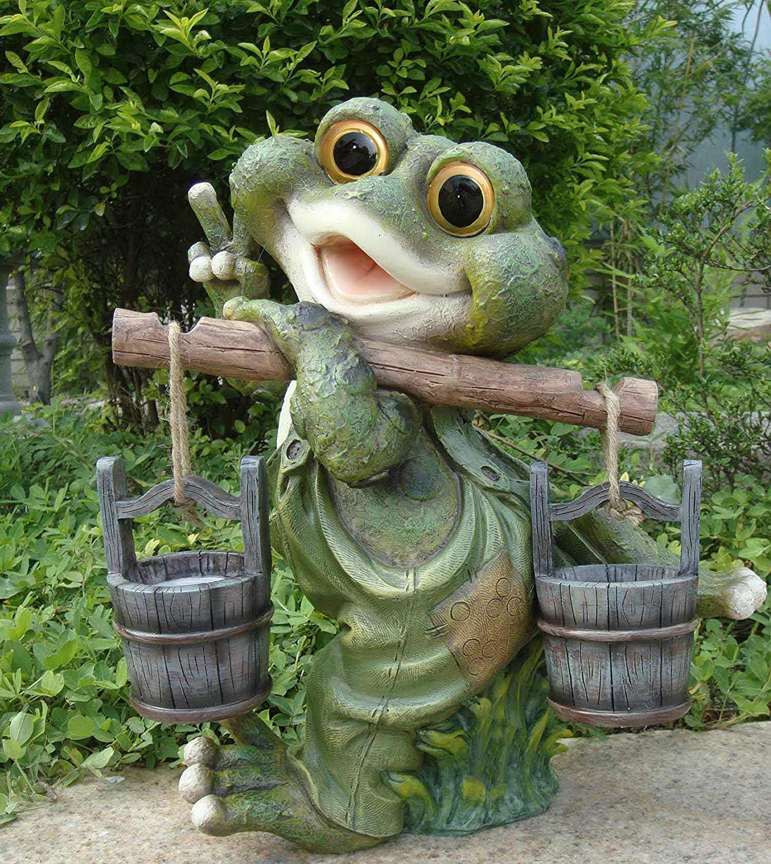 Rana XXL 40 cm Decoración alta Figuras de gnomo de jardín Decoración (40 cm 11169-3): Amazon.es: Jardín