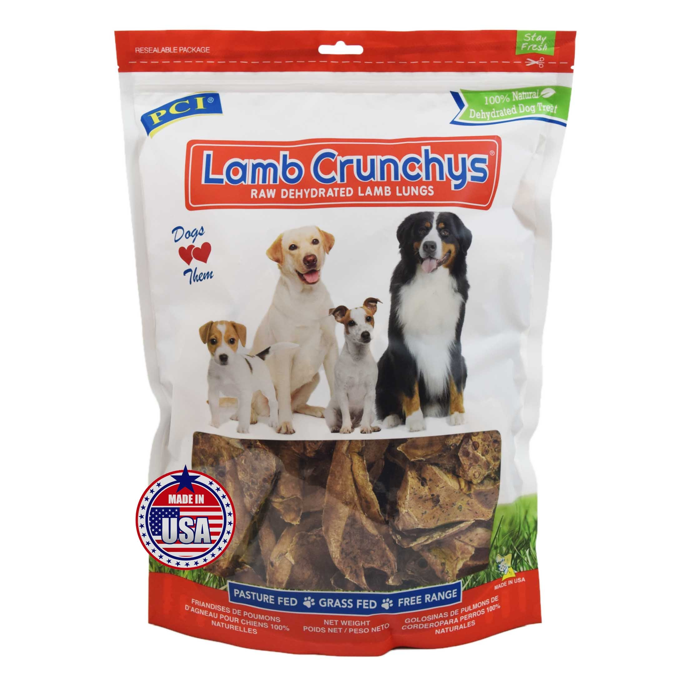 Dried Lamb Lung Dog Treats