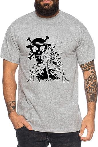 Ruffy Angry Gear Zoro One Manga Camiseta 2 Luffy de Hombre Anime Piece: Amazon.es: Ropa y accesorios