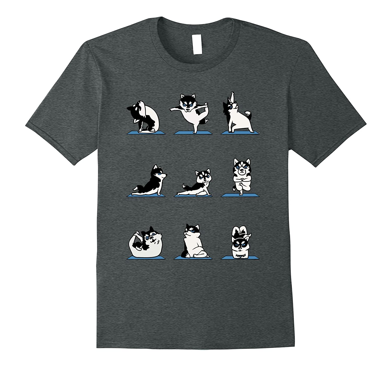 Yoga with Husky Cute Shirt-TH