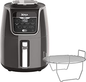 Ninja AF161 Max XL Air Fryer, 5.5-Quart, Grey (Renewed)