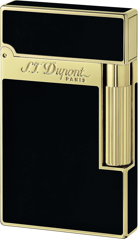 B0002FGWMI S.T. Dupont Ligne 2 Lacquer Lighter - Black/Gold 16884 81beqYDx60L.UL1500_