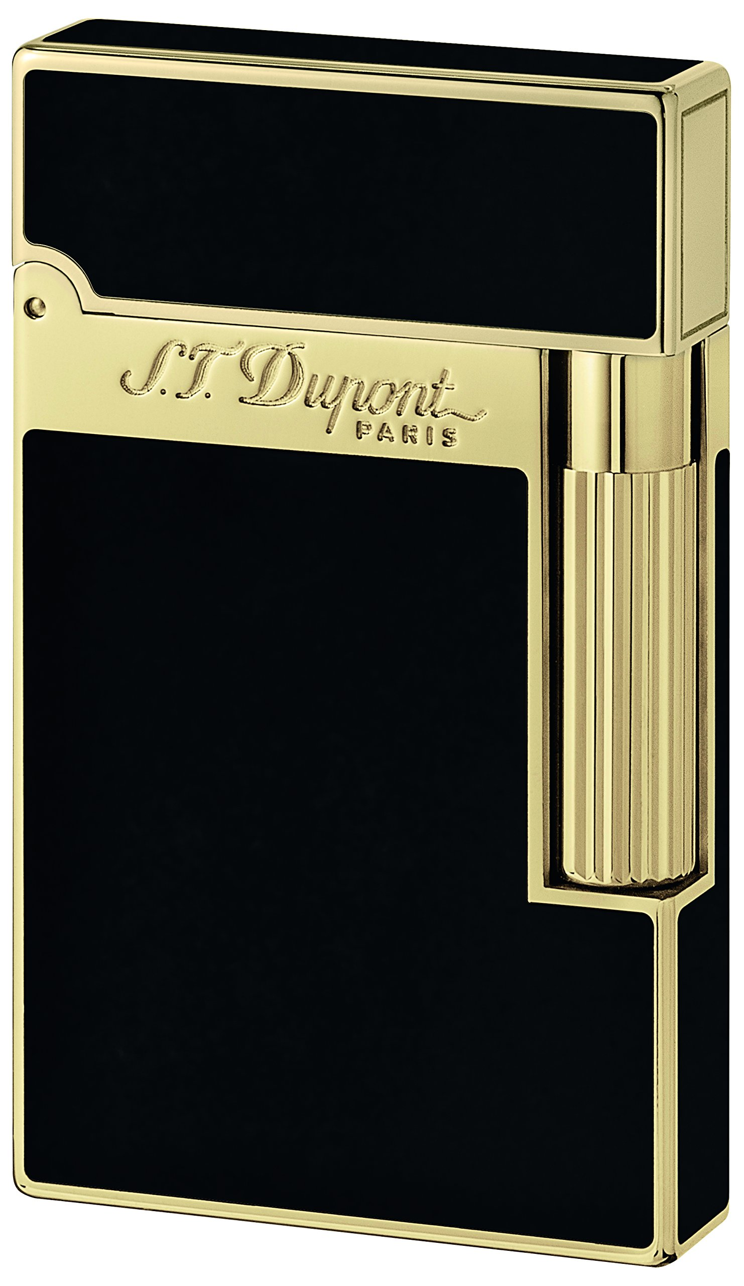 S.T. Dupont Ligne 2 Lacquer Lighter - Black/Gold 16884