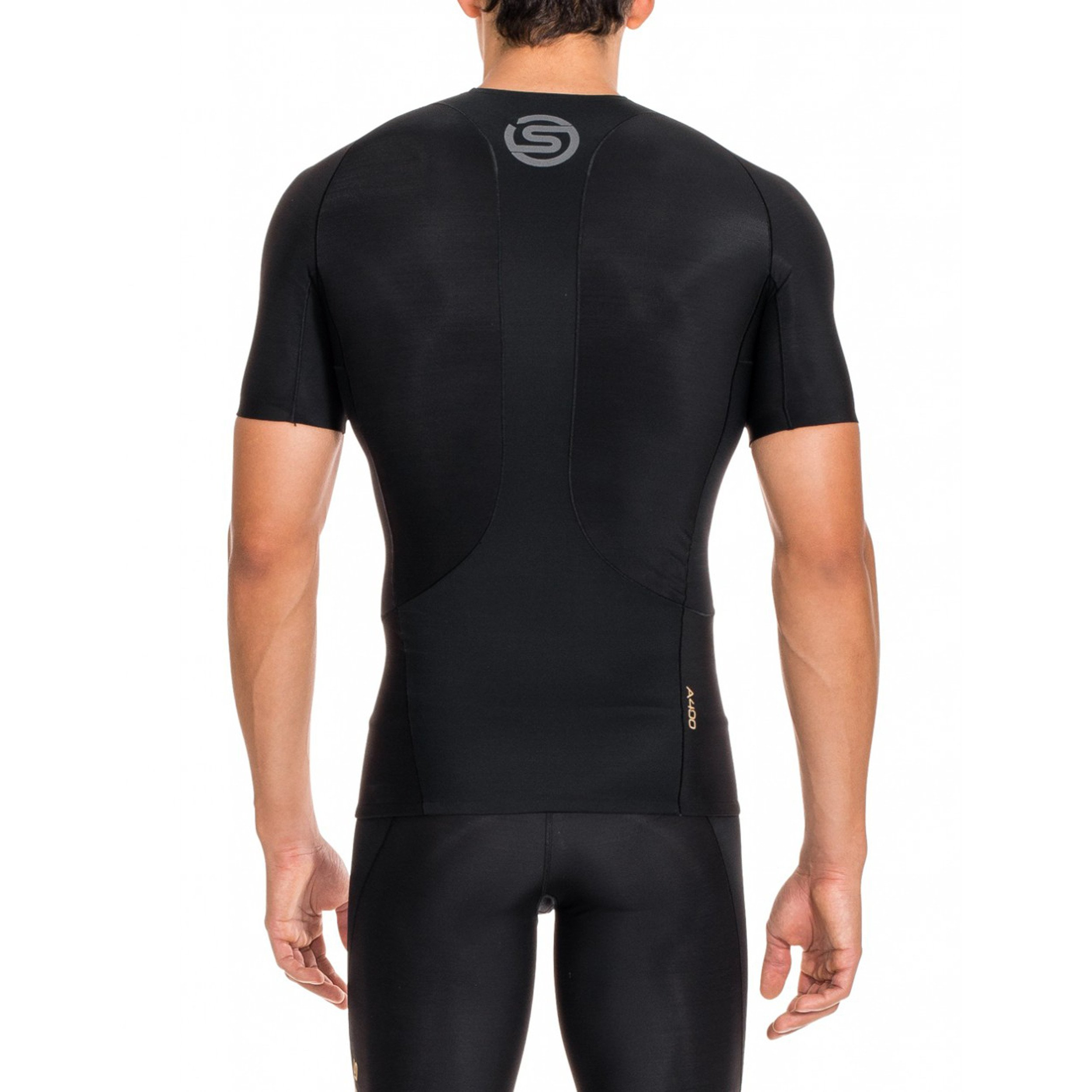 Skins Men's A400 Short Sleeve Compression Top, Black, Small by Skins (Image #3)