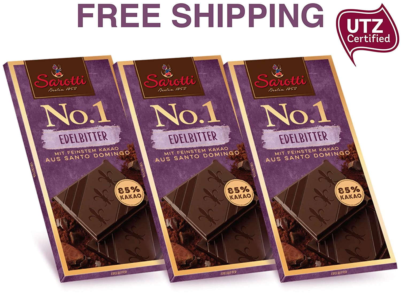 No.1 Dark Bitter Chocolate 85% de Santo Domingo 3 x 3.53 oz ...