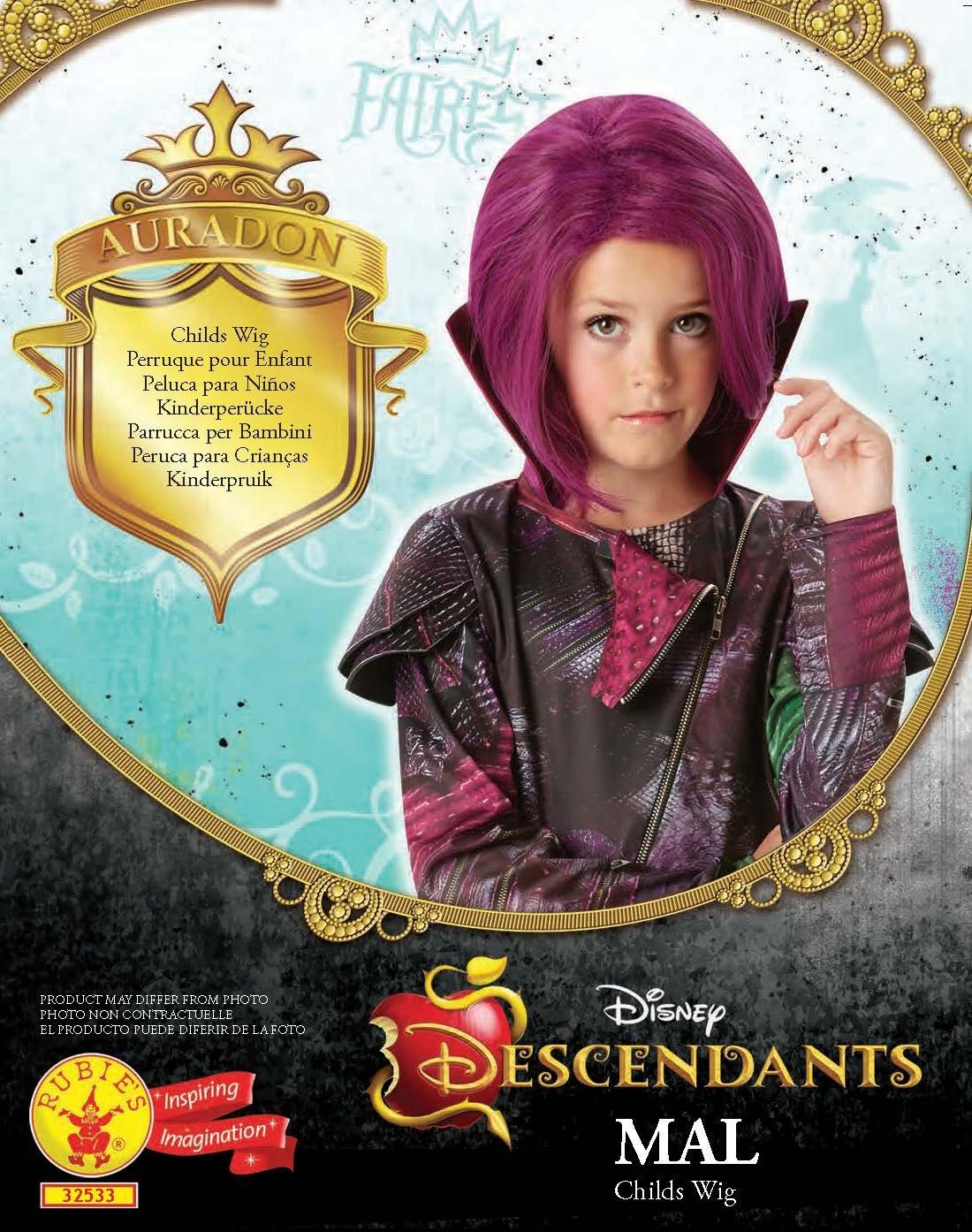 Los Descendientes - Peluca Mal, para niños (Rubies 32533): Amazon.es: Juguetes y juegos