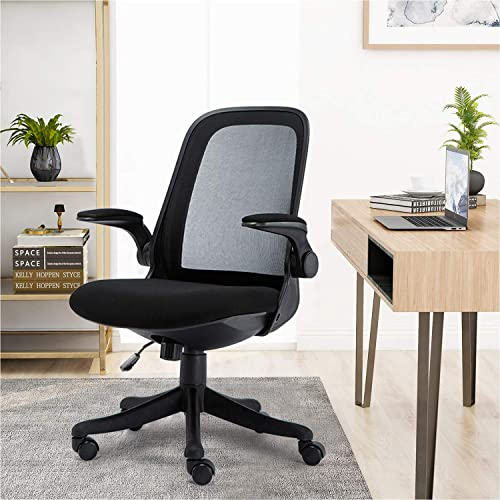 Mid-Back Ergonomic Home Office Chair,Komene Adjustable Mesh Computer Chair Thickened Seat Desk Chair