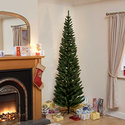 Slim Christmas Trees.7ft Green Pine Pencil Slim Artificial Christmas Tree With 400 Branch Tips By Life Is Good