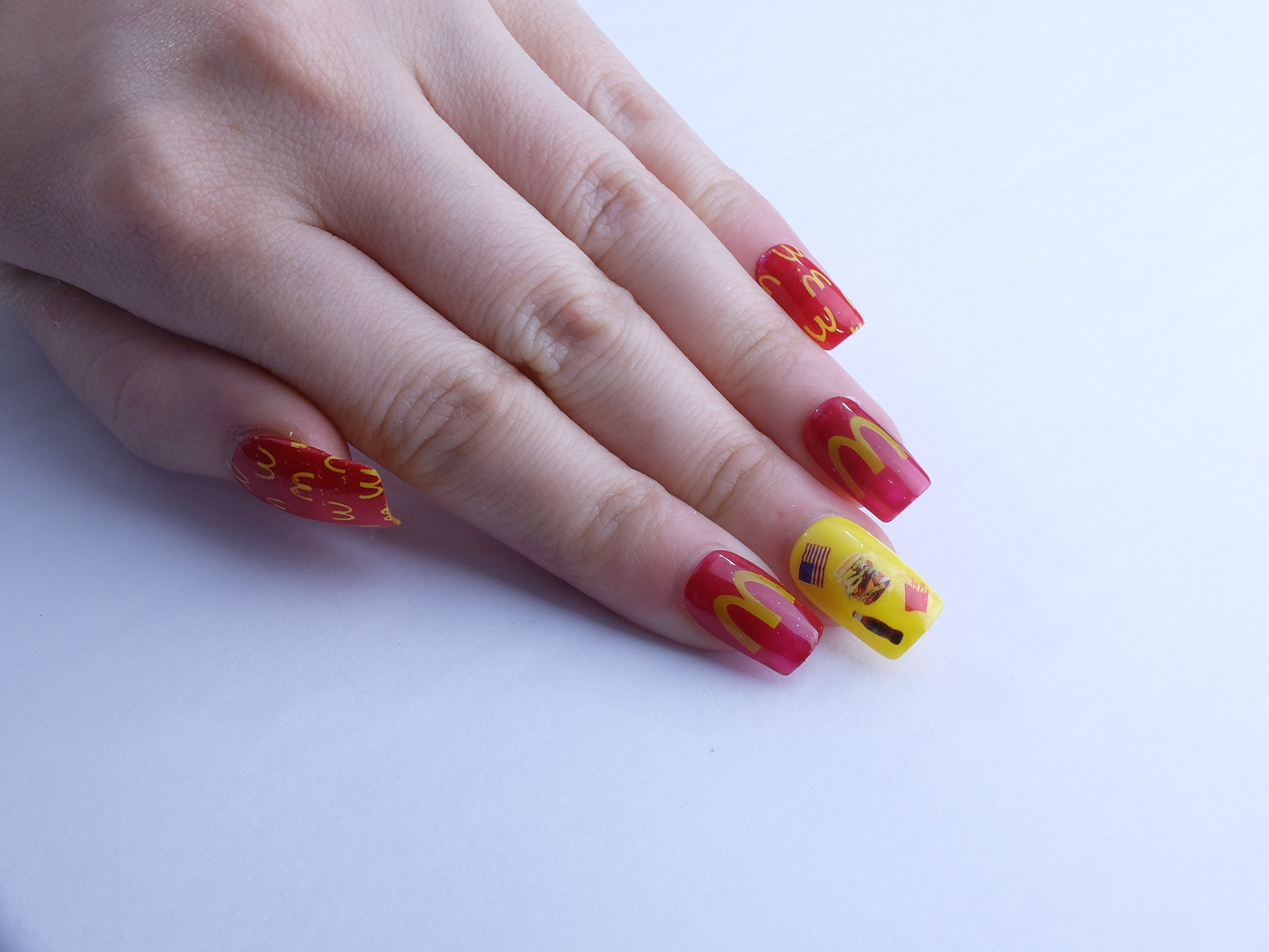 Junk Food Custom Press on Nails
