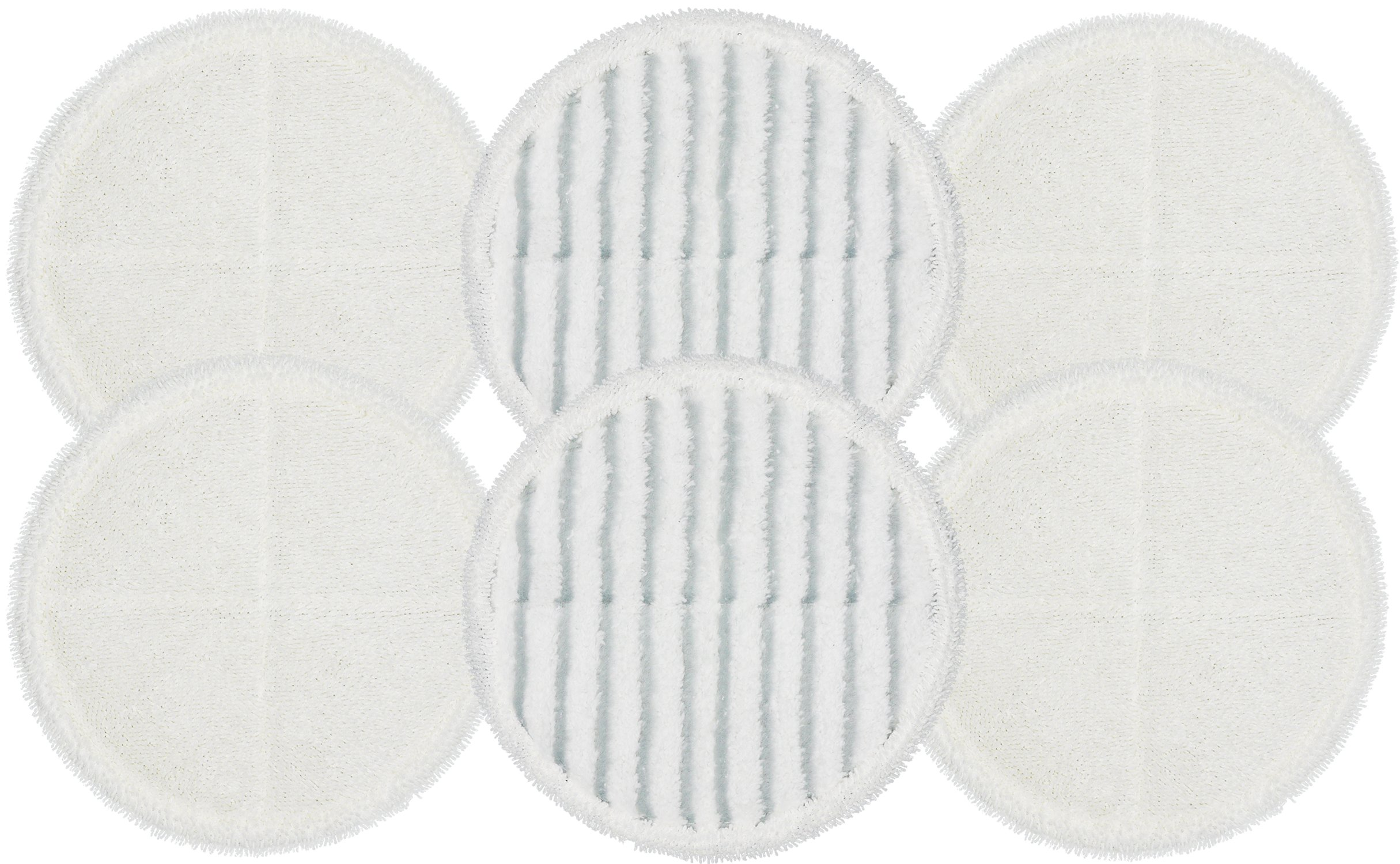 Bissell SpinWave Compatible Replacement Mop pads for Bissel Bissell Spinwave Hard Floor Cleaner Powered Rotating Mop 2124, 2039 series, 2307, 2315A, 6-pack (4 Soft pads + 2 Scrubby pads)